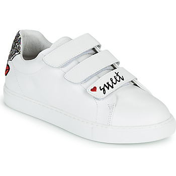 Sapatos Mulher Sapatilhas Bons baisers de Paname EDITH SWEET HEART Branco