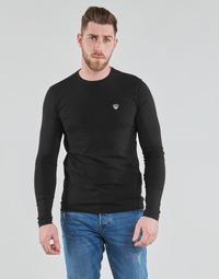 Textil Homem T-shirt mangas compridas Emporio Armani EA7 TRAIN CORE SHIELD Preto