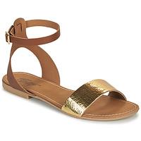 Sapatos Mulher Sandálias Betty London GIMY Camel / Ouro