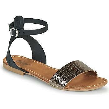 Sapatos Mulher Sandálias Betty London GIMY Preto / Aço