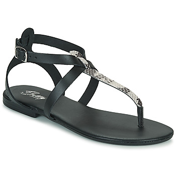 Sapatos Mulher Sandálias Betty London ORIOUL Preto / Cinza