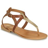 Sapatos Mulher Sandálias Betty London ORIOUL Camel / Ouro