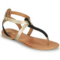 Sapatos Mulher Sandálias Betty London ORIOUL Preto / Ouro