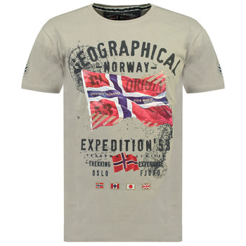 Textil Rapaz T-Shirt mangas curtas Geographical Norway JITCHEN Cinza