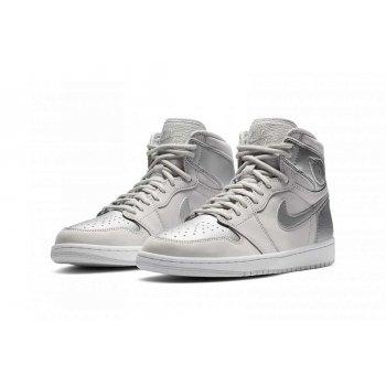 Sapatos Sapatilhas de cano-alto Nike Air Jordan 1 Japan Silver Neutral Grey/White/Metallic Silver