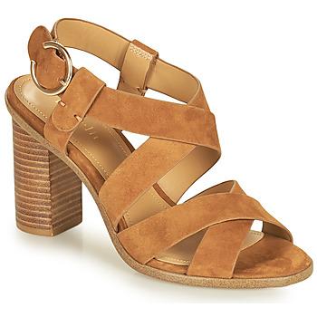 Sapatos Mulher Sandálias Minelli CLAVIA Castanho