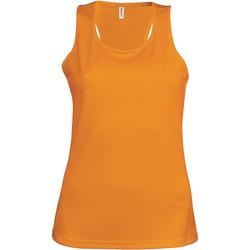 Textil Mulher Tops sem mangas Proact Débardeur femme  Sport orange