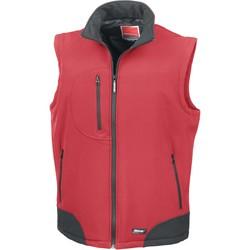 Textil Casacos de malha Result Doudoune Sans Manche  Softshell rouge/noir