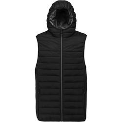 Textil Homem Casacos de malha Proact Doudoune sans manches à capuche noir