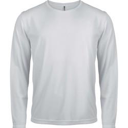 Textil Homem T-shirt mangas compridas Proact T-Shirt manches longues  Sport blanc blanc