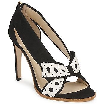 Sapatos Mulher Escarpim Moschino DELOS ESCA Preto / Marfim