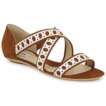Sapatos Mulher Sandálias Moschino DELOS SAND Camel / Marfim
