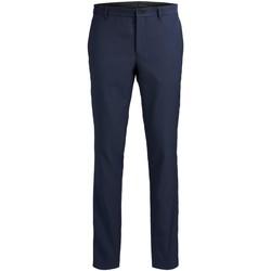 Textil Homem Calças Jack & Jones Pantalon  Solaris bleu foncé