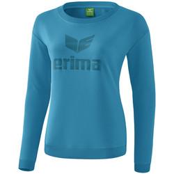 Textil Mulher T-shirt mangas compridas Erima Sweat-shirt femme  Essential bleu clair/bleu