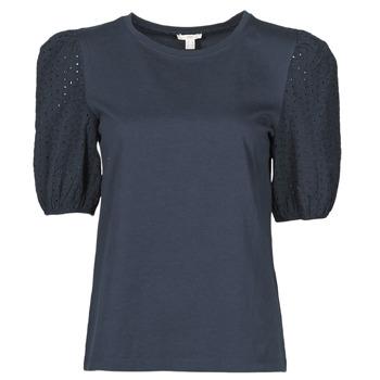 Textil Mulher T-Shirt mangas curtas Esprit T-SHIRTS Preto