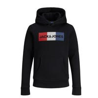 Textil Rapaz Sweats Jack & Jones JJECORP LOGO PLAY SWEAT Preto