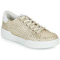Sapatos Mulher Sapatilhas Café Noir JANISA Branco / Ouro