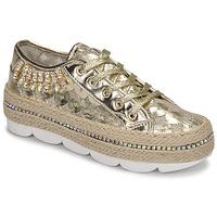 Sapatos Mulher Sapatilhas Café Noir KINITA Ouro