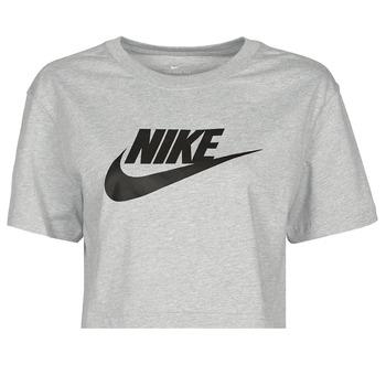 Textil Mulher T-Shirt mangas curtas Nike NSTEE ESSNTL CRP ICN FTR Cinza / Preto