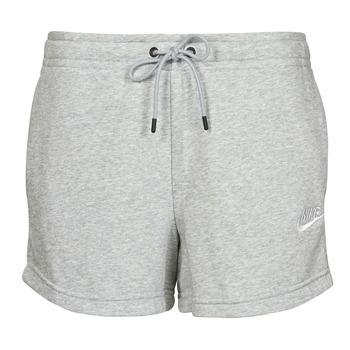 Textil Mulher Shorts / Bermudas Nike NSESSNTL FLC HR SHORT FT Cinza / Branco