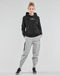 Textil Mulher Calças de treino Nike NSTCH FLC ESSNTL HR PNT Cinza / Preto