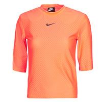 Textil Mulher T-Shirt mangas curtas Nike NSICN CLSH TOP SS MESH Laranja