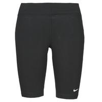 Textil Mulher Collants Nike NSESSNTL MR BIKER SHORT Preto / Branco