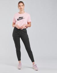 Textil Mulher Calças de treino Nike NSAIR PANT FLC MR Preto / Branco