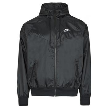 Textil Homem Corta vento Nike NSSPE WVN LND WR HD JKT Preto / Branco
