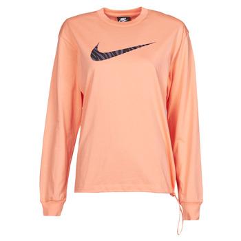 Textil Mulher T-shirt mangas compridas Nike NSICN CLSH LS TOP HBR Rosa / Violeta