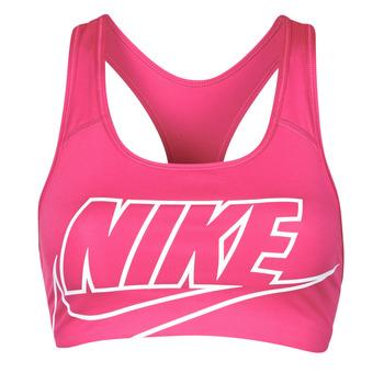 Textil Mulher Tops e soutiens de desporto Nike DF SWSH FUTURA GX BRA Rosa / Branco