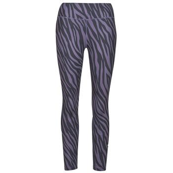 Textil Mulher Collants Nike NIKE ONE 7/8 AOP TGT ICNCLSH Violeta / Preto