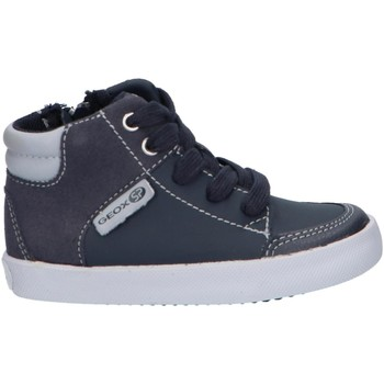 Sapatos Rapaz Sapatilhas de cano-alto Geox B841NA 054AU B GISLI Azul
