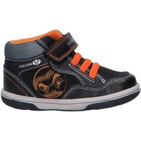 Sapatos Rapaz Sapatilhas de cano-alto Geox B9437A 0MEAF BABY FLICK Negro