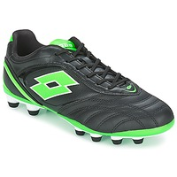 Sapatos Homem Chuteiras Lotto STADIO P VI 300 FG Preto / Verde