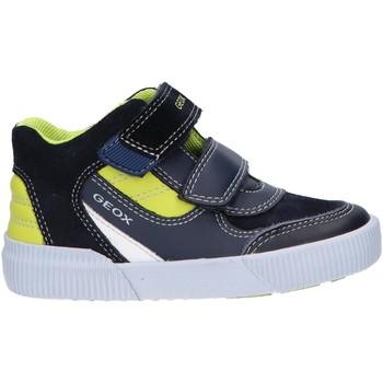 Sapatos Rapaz Sapatilhas de cano-alto Geox B94A7A 022BC B KILWI Azul