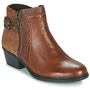 Sapatos Mulher Botins Rieker BELLA Castanho