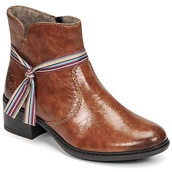 Sapatos Mulher Botins Rieker  Castanho