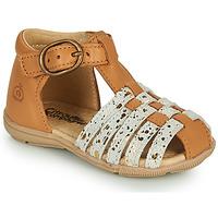 Sapatos Rapariga Sandálias Citrouille et Compagnie RINE Camel / Ouro