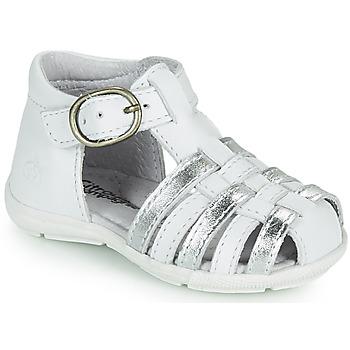 Sapatos Rapariga Sandálias Citrouille et Compagnie RINE Branco / Prateado