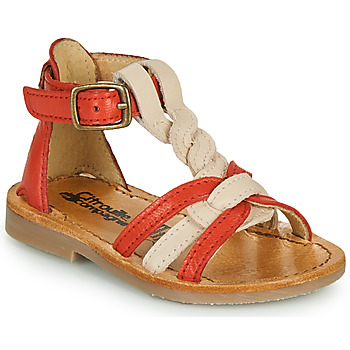 Sapatos Rapariga Sandálias Citrouille et Compagnie GITANOLO Coral / Rosa
