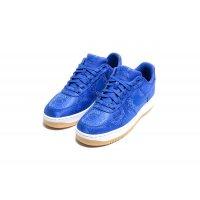 Sapatos Sapatilhas Nike Air Force 1 Low x CLOT Silk Blue Game Royal/White-Gum Light Brown