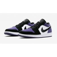 Sapatos Sapatilhas Nike Air Jordan 1 Low Court Purple  Court Purple/Black-White
