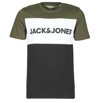 Textil Homem T-Shirt mangas curtas Jack & Jones JJELOGO Cáqui