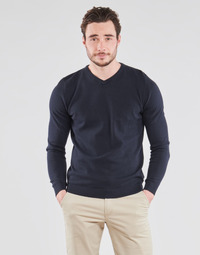Textil Homem camisolas Jack & Jones JJEBASIC Marinho