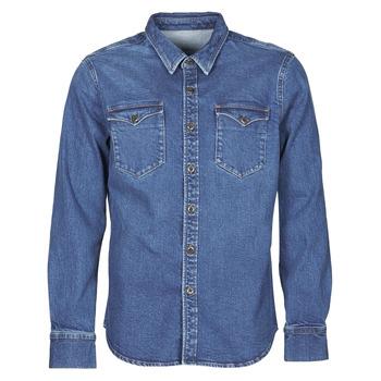 Textil Homem Camisas mangas comprida Yurban OPUCI Azul