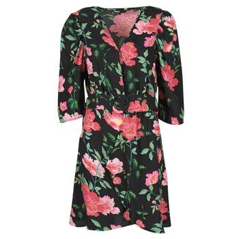 Textil Mulher Vestidos curtos Only ONLEVE 3/4 SLEEVE SHORT DRESS WVN Preto / Rosa