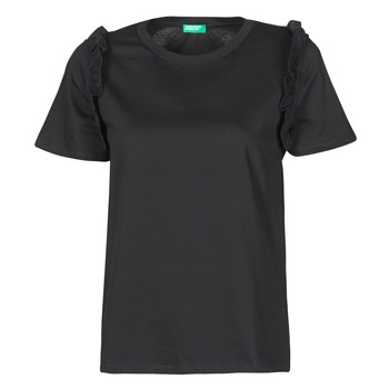 Textil Mulher T-Shirt mangas curtas Benetton MARIELLA Preto