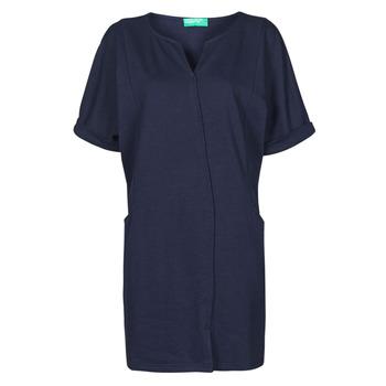 Textil Mulher Vestidos curtos Benetton CAMILA Marinho