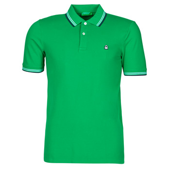 Textil Homem Polos mangas curta Benetton 3WG9J3181-108 Verde